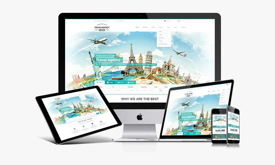 Clip Art Agency Bootstrap - Travel Agency Bootstrap Theme, Transparent Clipart