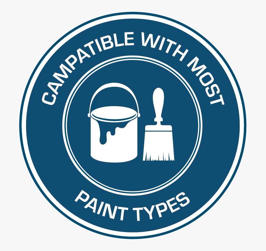 Compatible With Most Paints Badge, Transparent Clipart