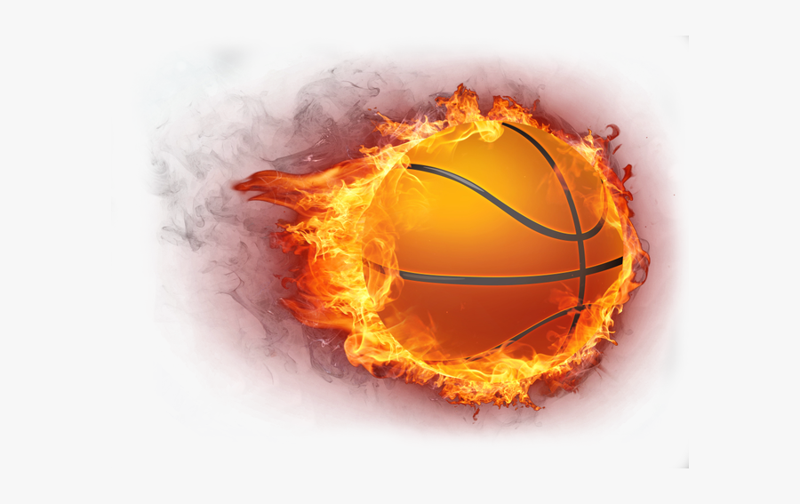 Basketball Fire Icon - Basketball Ball On Fire, Transparent Clipart