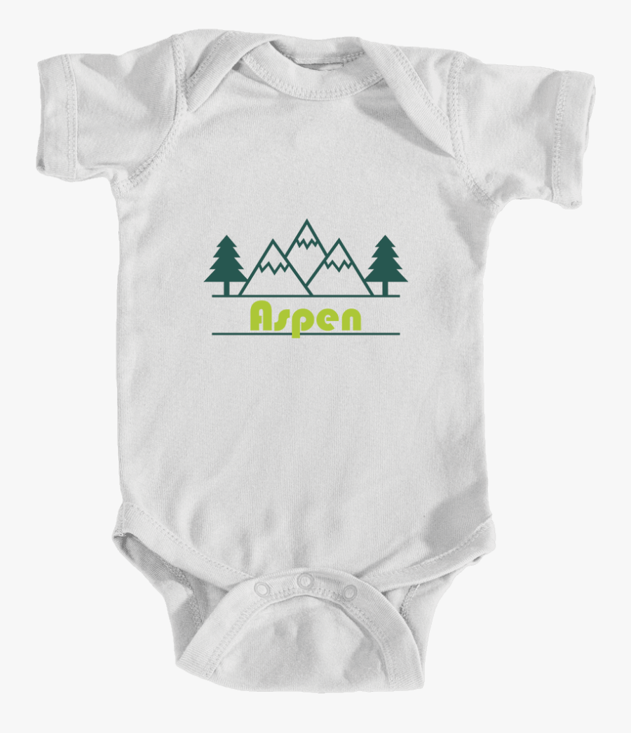 Aspen, Colorado Mountain & Trees In Green - Triangle, Transparent Clipart