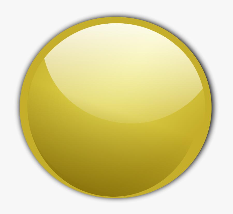 Golden Button Vector, Transparent Clipart