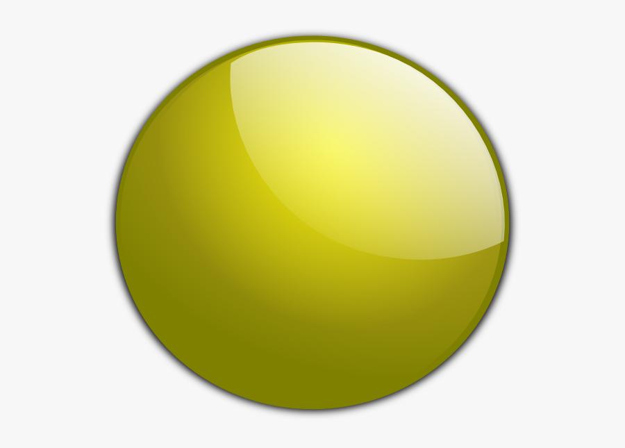 Gold Circle Button Svg Clip Arts - 3d Buttons On Transparent Background, Transparent Clipart