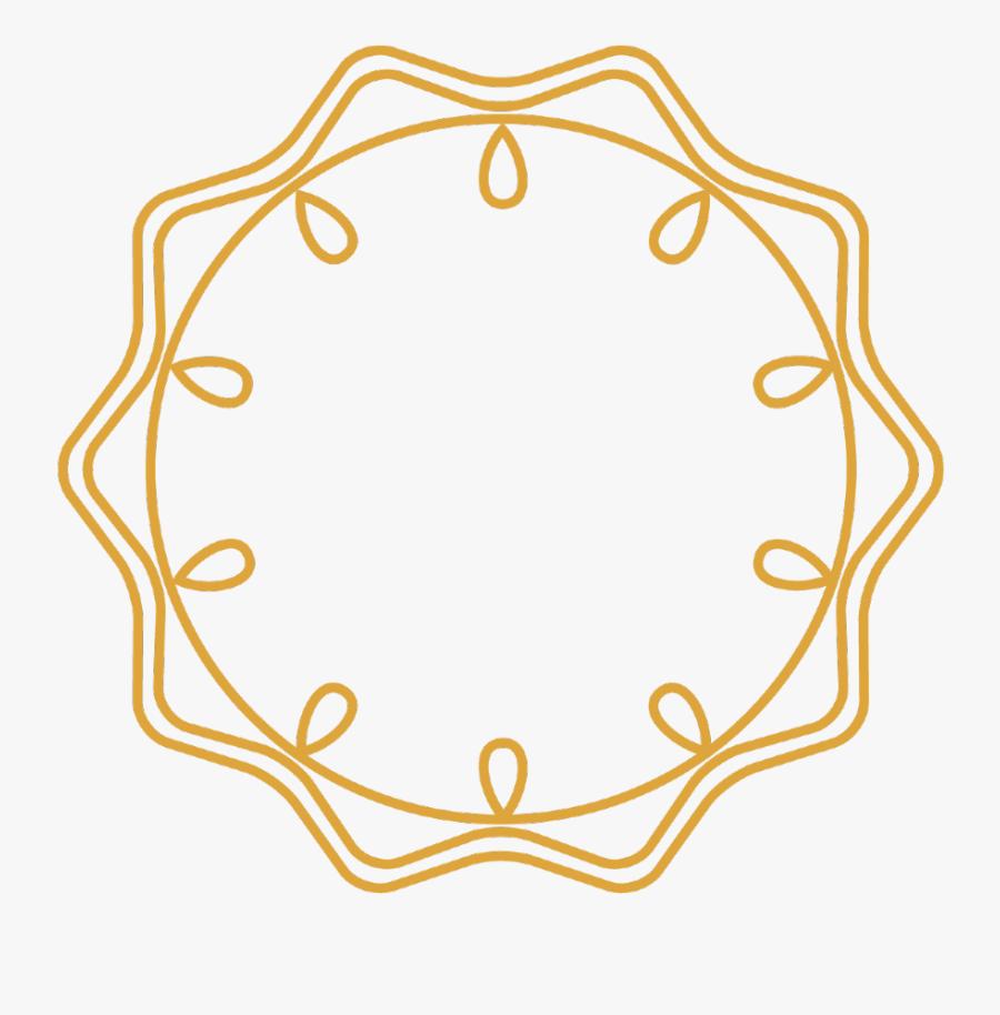 #gold #wreath #frame #border #circle #round #swirls - Clip Art, Transparent Clipart