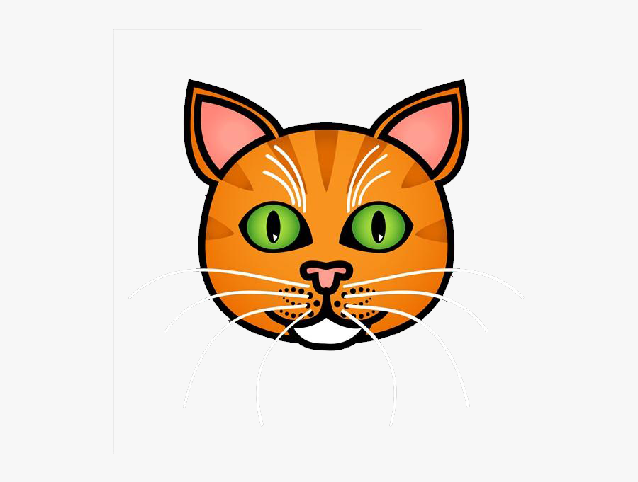 Tabby Cat Drawing Royalty-free Illustration - Orange Tabby Cat Face Drawing, Transparent Clipart