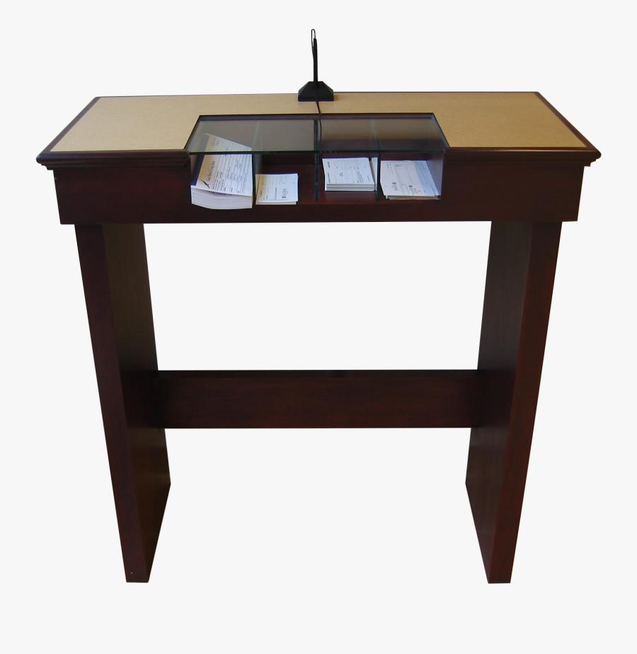 Cymax Desk - Bank Check Writing Desk, Transparent Clipart
