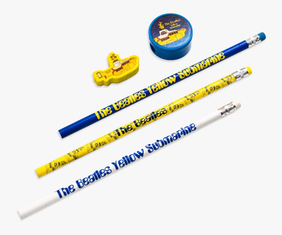 Yellow Submarine Pencil And Eraser Set - Yellow Submarine, Transparent Clipart