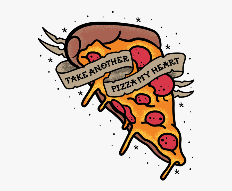 Male Pizza My Heart Red T-shirt Clipart , Png Download - Taking A Pizza My Heart, Transparent Clipart