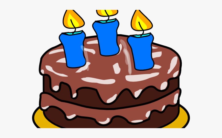 Birthday Cake Clipart Candle - Birthday Cake With 3 Candles, Transparent Clipart