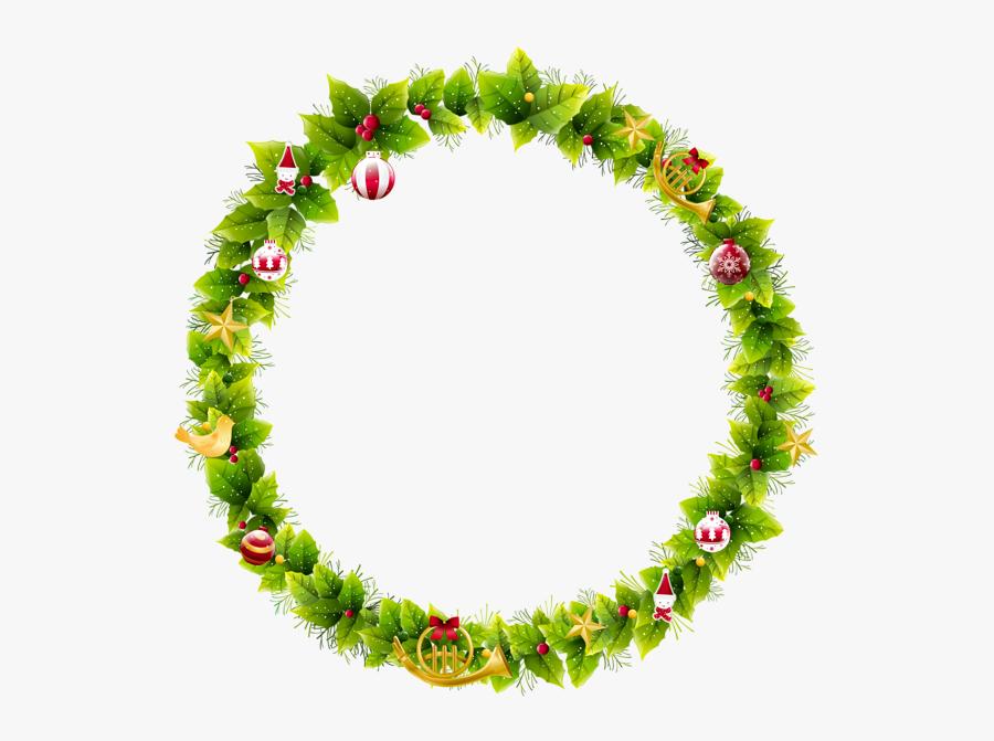 Christmas Wreath Frame Clipart, Transparent Clipart