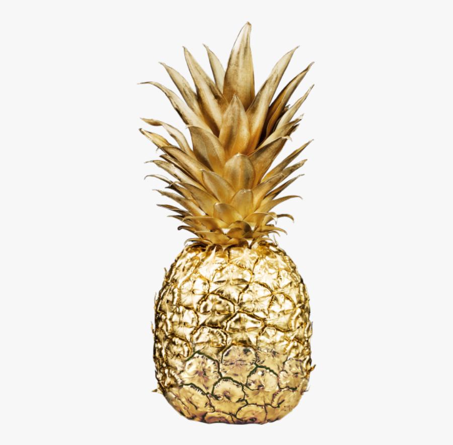 Clip Art Gold Pineapple Background - Fondos De Pantalla De Piñas, Transparent Clipart