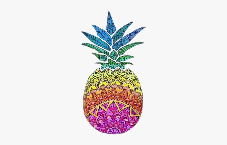 #pineapple #drawing #lines #colors#freetoedit - Dibujos Coloridos Para Dibujar, Transparent Clipart