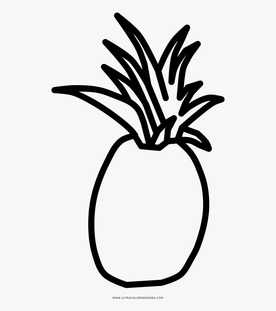 Pineapple Coloring Page - Pineapple Clipart Black And White To Draw, Transparent Clipart