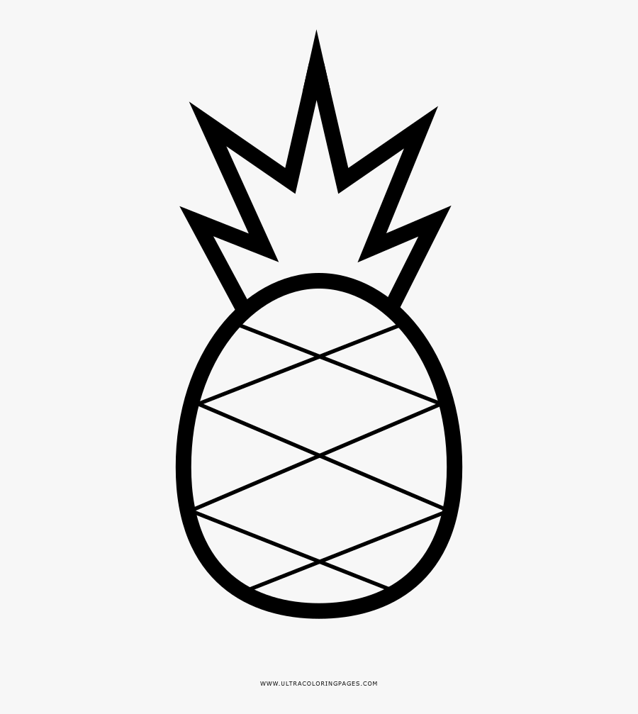 Pineapple Coloring Page - Pineapple Pics Coloring Sheets, Transparent Clipart