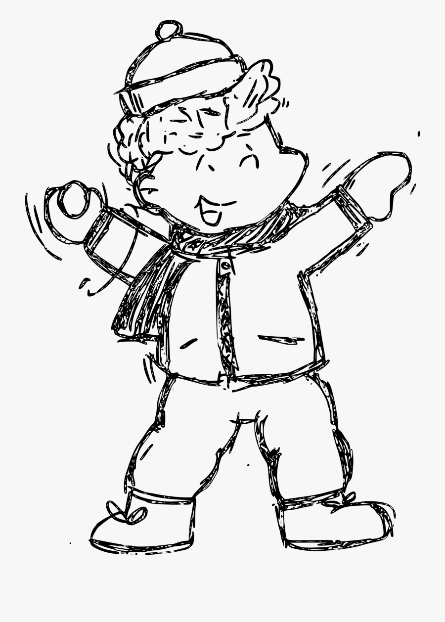 Sketch Cartoon Big Image - Children Sketch Png, Transparent Clipart