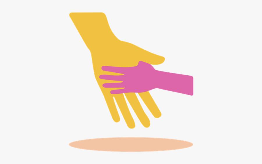 "Cartoon Of Child Holding Parent""s Hand - Parent And Child Holding Hands Clipart, Transparent Clipart"