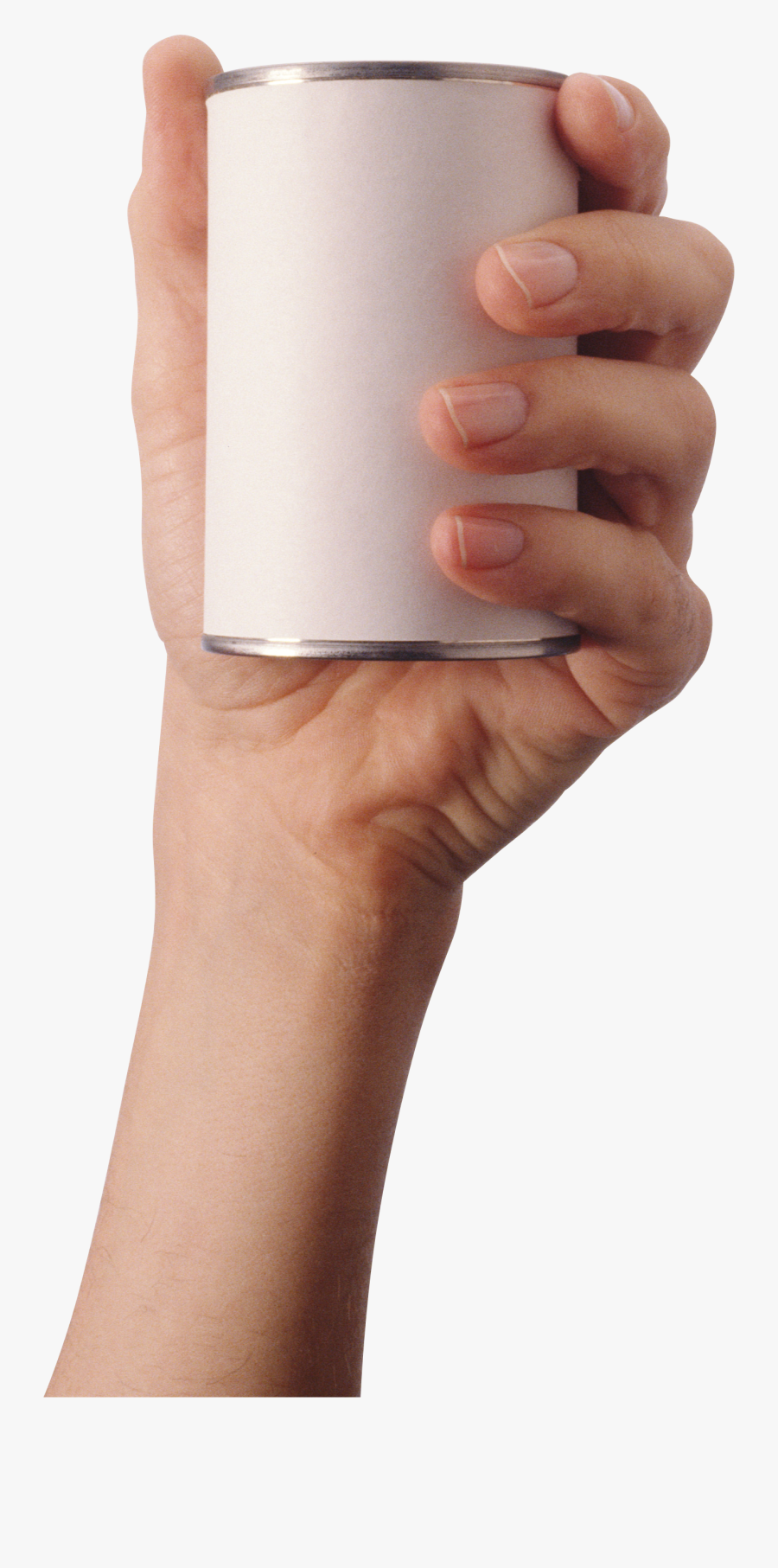 Food Can Isolated Stock - Hand Holding Can Png, Transparent Clipart