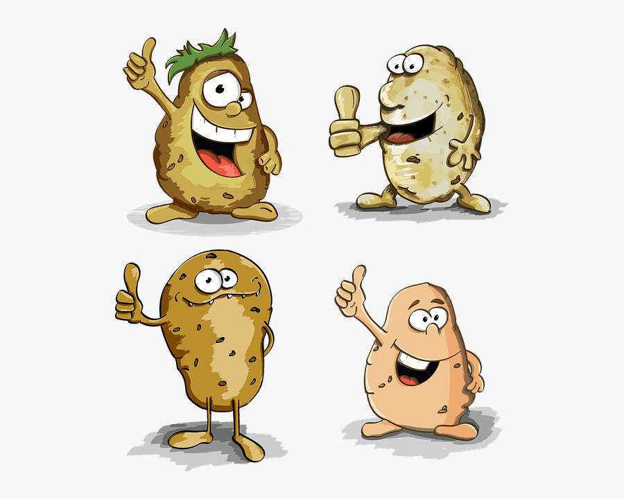 Healthy Foods For Kids - Baked Potato Cartoon, Transparent Clipart