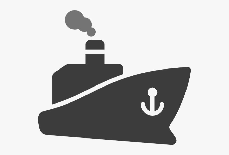 Ship Cannon Clip Art Png Black And White - Blue Ship Icon Png, Transparent Clipart