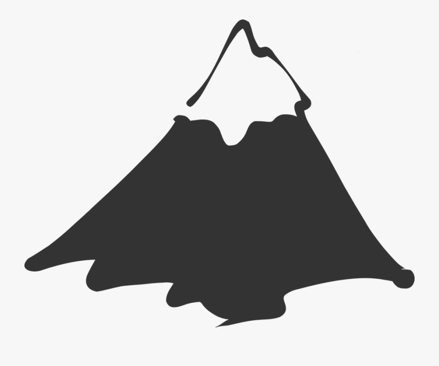 Mountain, Top, Peak, Snow, Landscape, Nature, High - Mountain Clipart Black And White, Transparent Clipart