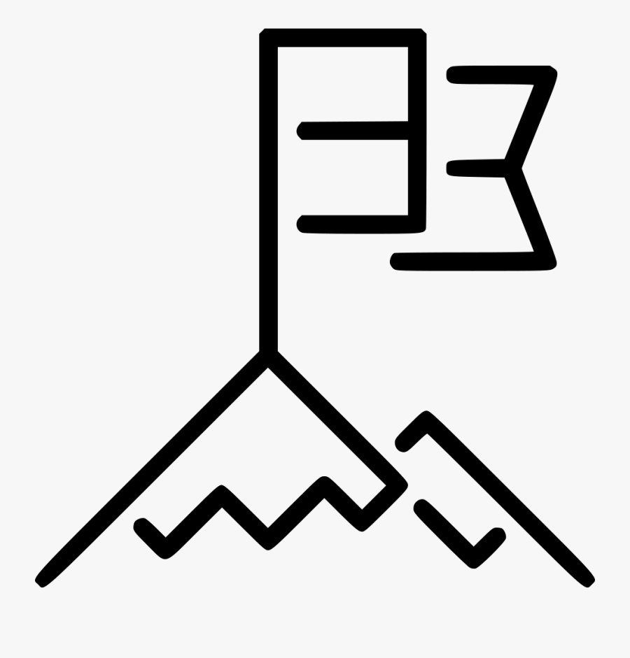 Mountain Top - Top Of The Mountain Icon, Transparent Clipart