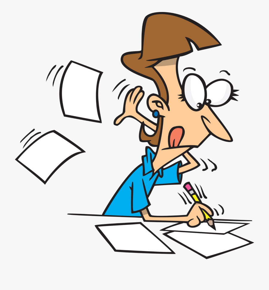 Test Clip Art Transparent Png - Cartoon Of Someone Writing, Transparent Clipart