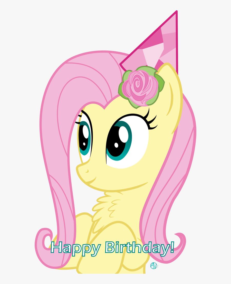 Fluttershy Birthday, Transparent Clipart