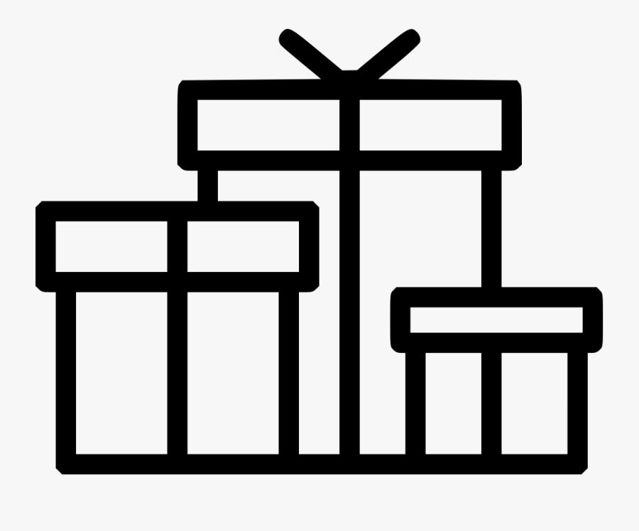 Gifts Gift Box Present Presentation Christmas Birthday - Cross, Transparent Clipart