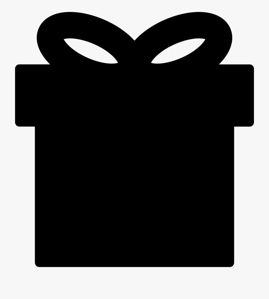 Gift Box Black Shape - Black Gift Box Png, Transparent Clipart