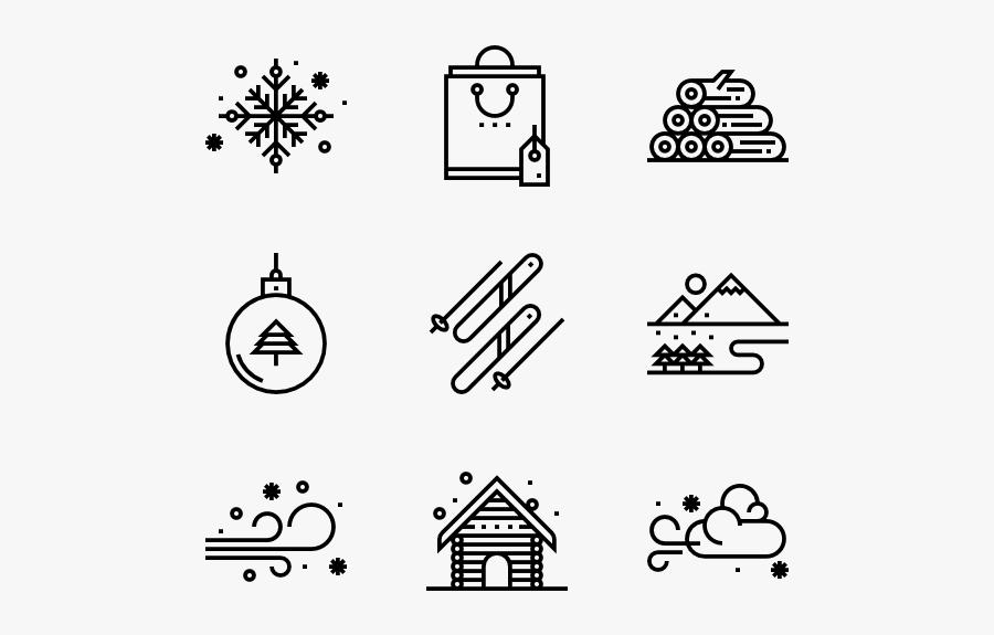 Winter - Icon Gift Box, Transparent Clipart
