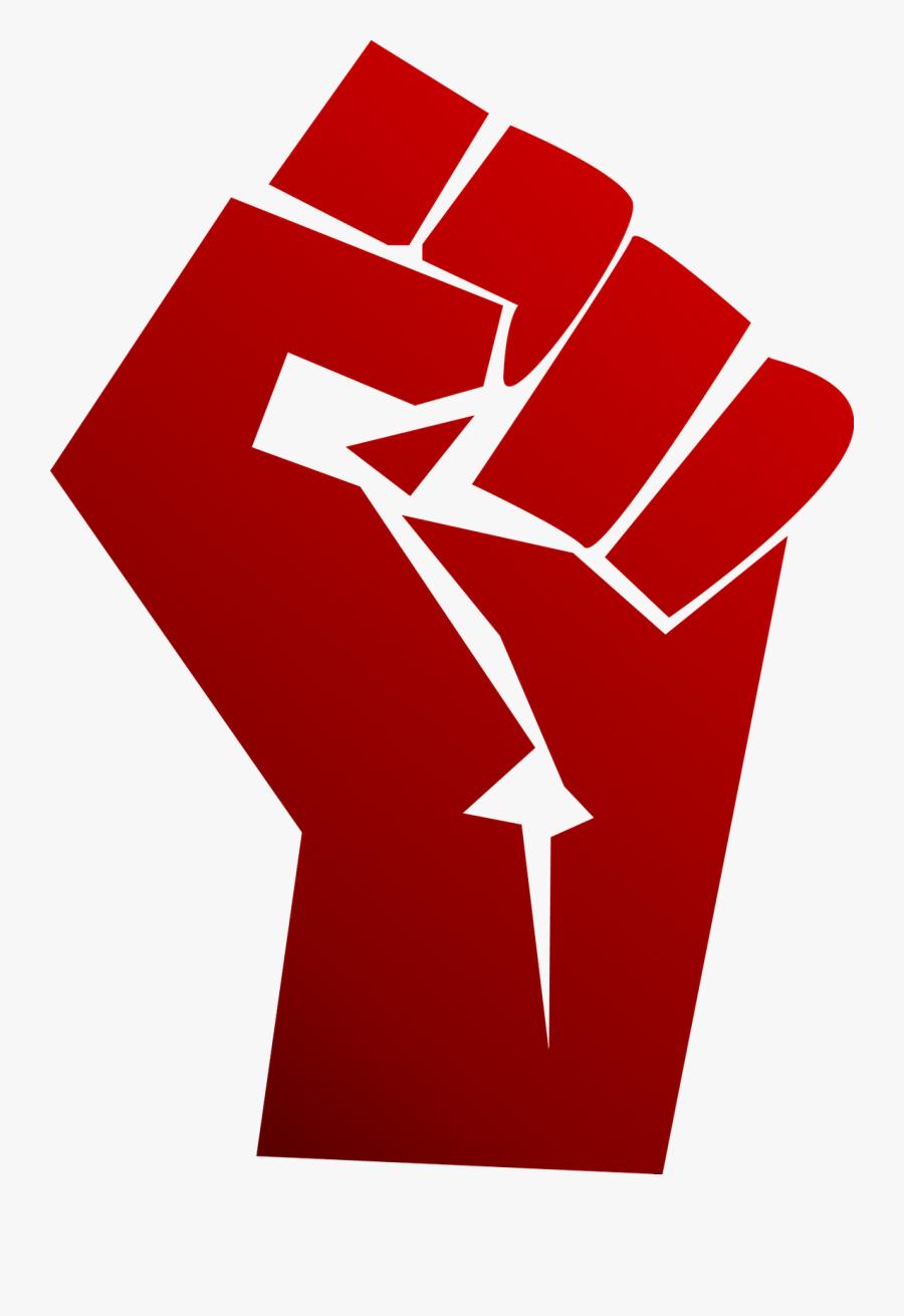 Raised Fist T-shirt Clip Art - Black Clenched Fist, Transparent Clipart