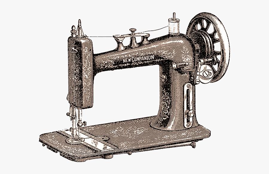 Maquina De Coser Antigua Dibujo, Transparent Clipart