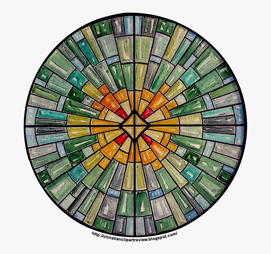 Geometric Patterns Stained Glass, Transparent Clipart