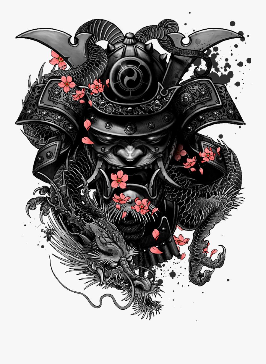 Tattoo Katsumoto Samurai Sleeve Artist Free Transparent - Tattoo Samurai, Transparent Clipart
