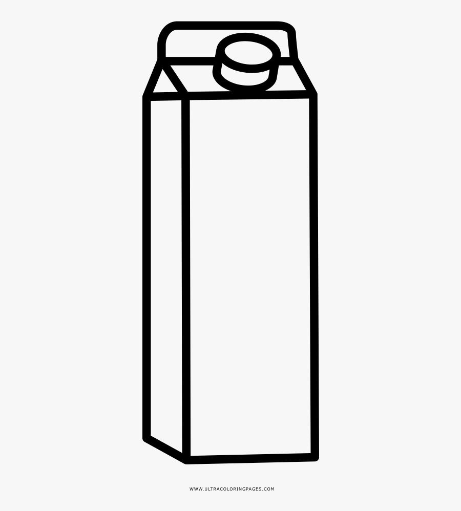 Milk Coloring Page - Dibujo Para Colorear De Una Caja De Leche, Transparent Clipart