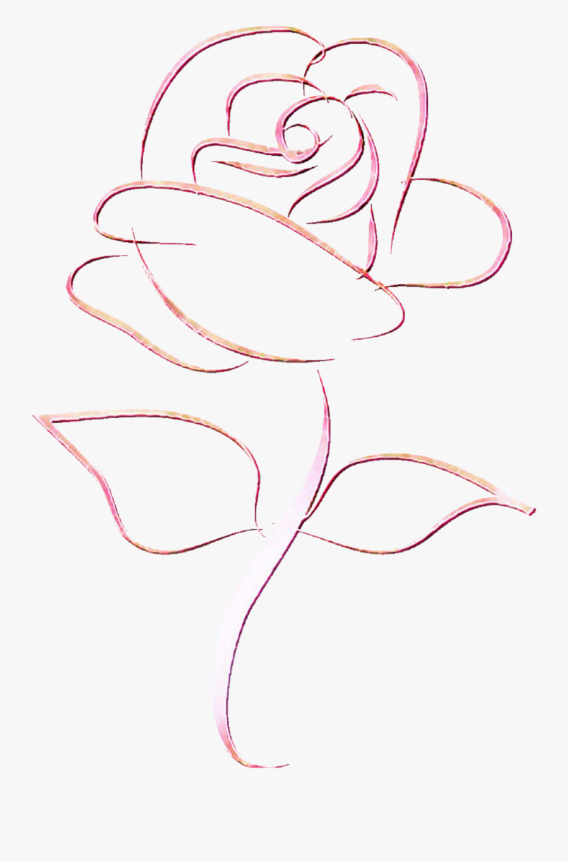 #flower #outline - Sketch, Transparent Clipart