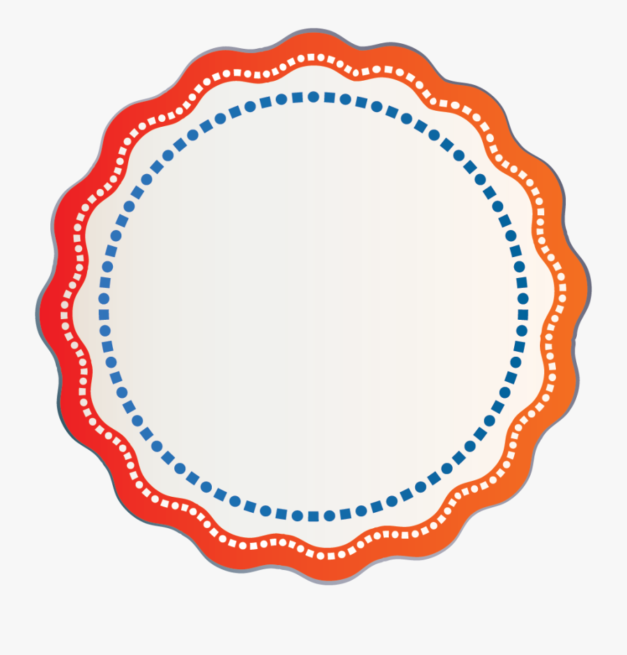 Red Orange Gradient Flower Outline With White Square - Transparent Background Green Circle Png, Transparent Clipart