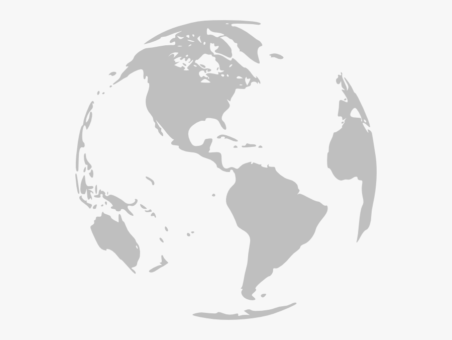 Transparent Globe Black And White Png - World Map, Transparent Clipart