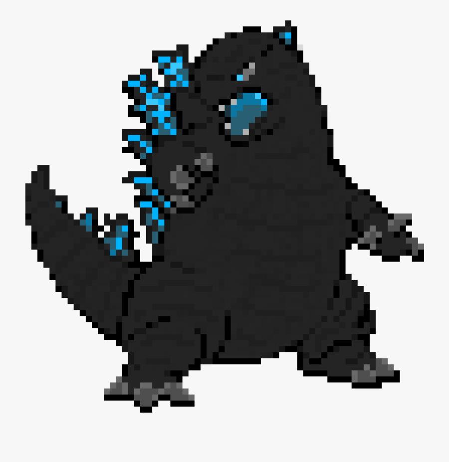 Minecraft Pixel Art Godzilla Free Transparent Clipart