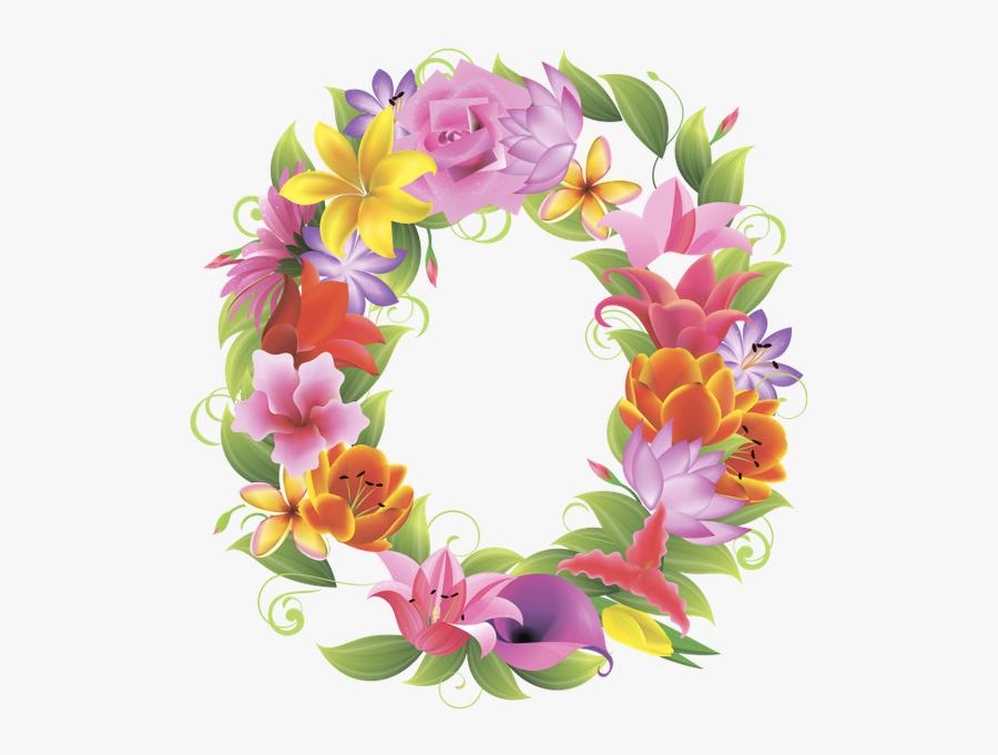 Английский Алфавит, Буква O, Цветочный Алфавит - Alphabet Floral Design Png, Transparent Clipart