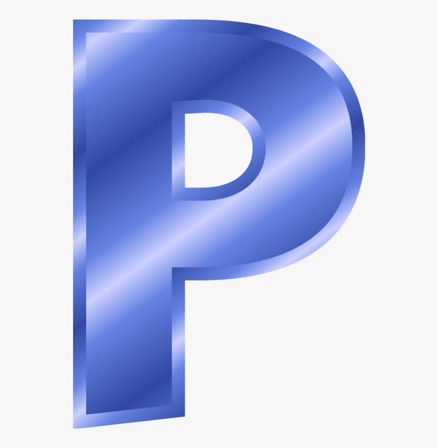 Alphabet Letter P - P Clipart Blue, Transparent Clipart