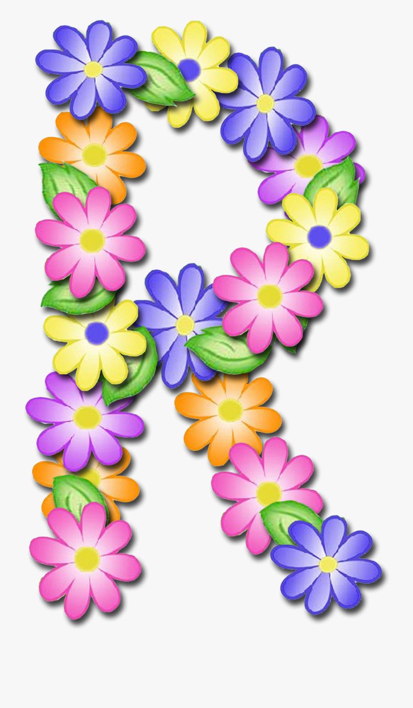Flower Clipart Alphabet R - Letras De Flores P, Transparent Clipart