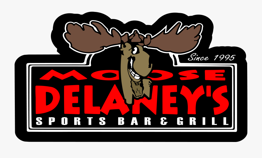 Logo - Moose Delaney's Sports Bar & Grill, Transparent Clipart