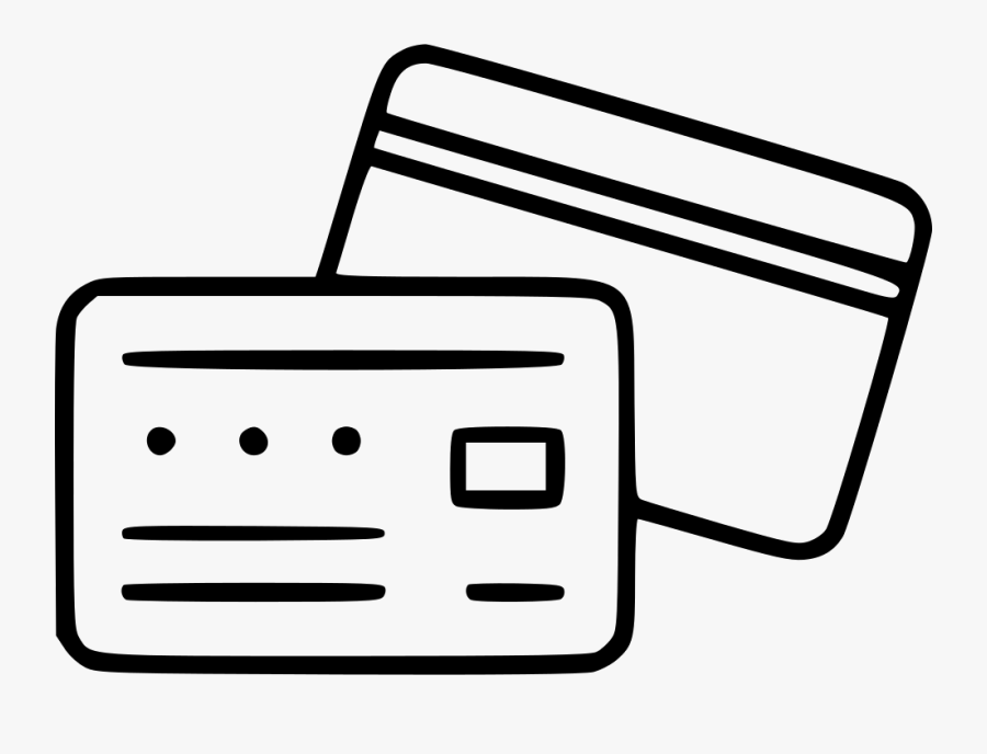 Credit Card Web Pay Payment Shopping Banking - Line Icon Credit Card, Transparent Clipart