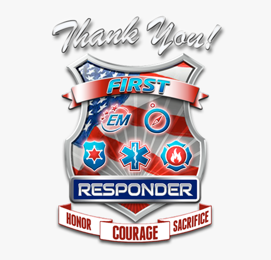 National First Responders Day 2018, Transparent Clipart