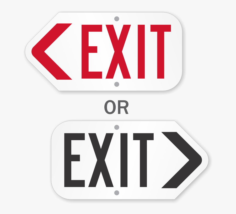 Exit Sign With Arrow - Traffic Sign, Transparent Clipart