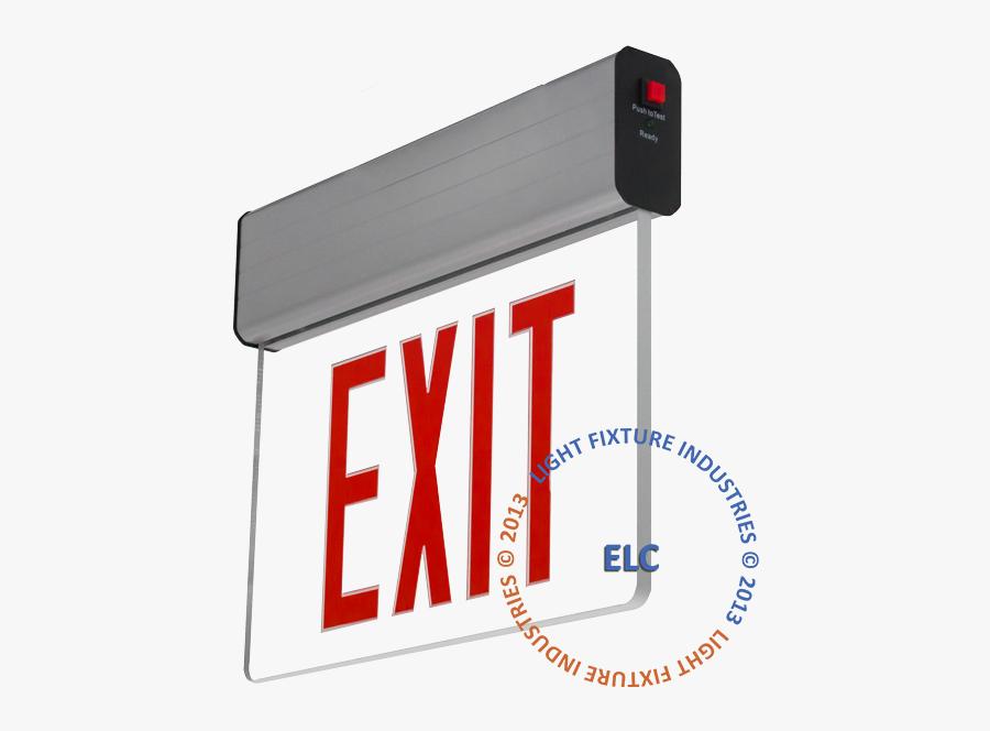 Exit Sign - Exit Light Signage, Transparent Clipart