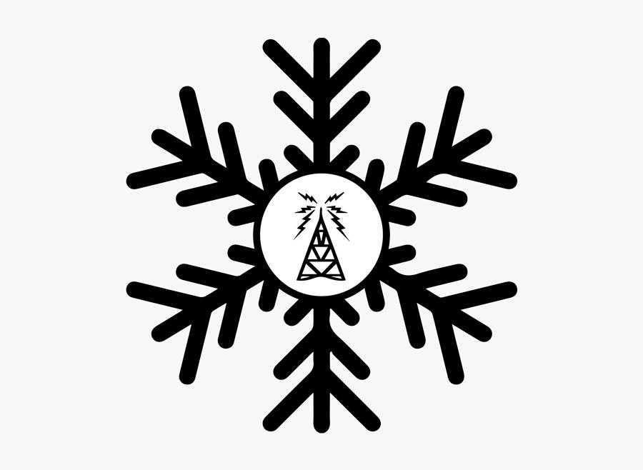 Dark Blue Snowflake Png, Transparent Clipart