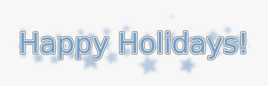 Holidays With Snowflakes Big - Happy Holidays Banner Free, Transparent Clipart
