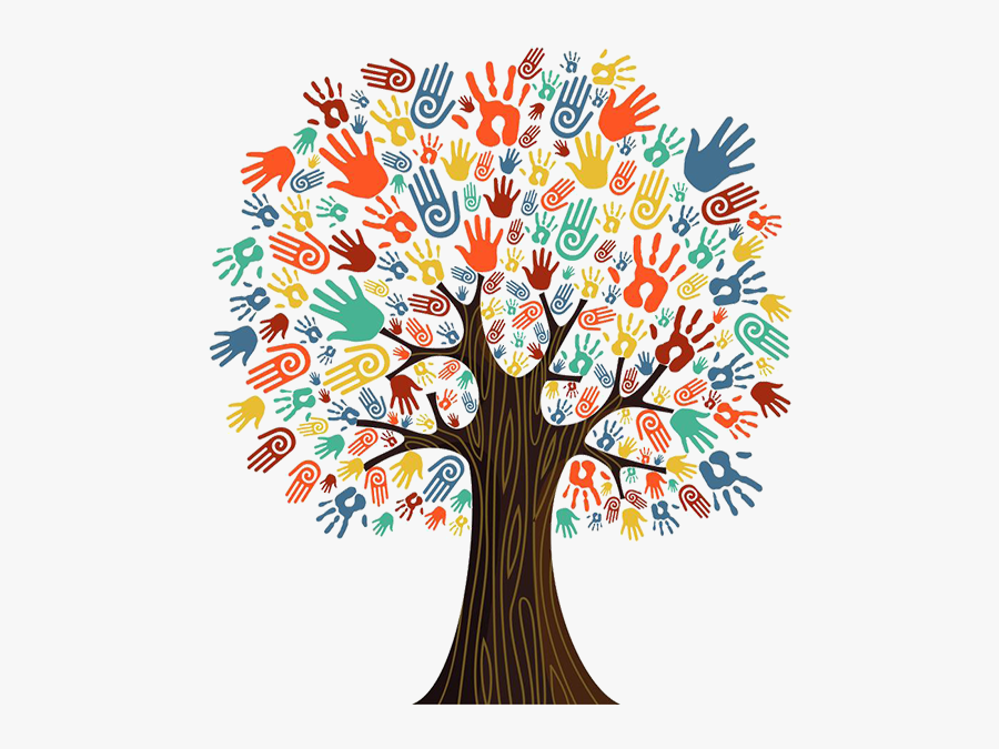 Tree - Tree With Hand Prints, Transparent Clipart