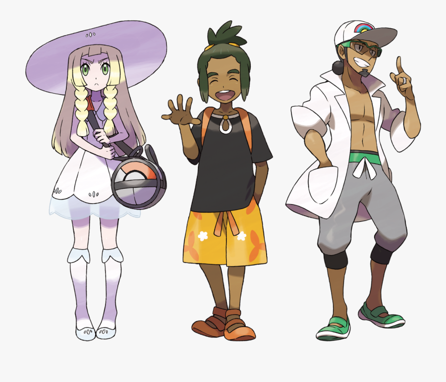Here Are Some Main References Collected For Your Convenience - Pokemon Sun And Moon Character Hau, Transparent Clipart